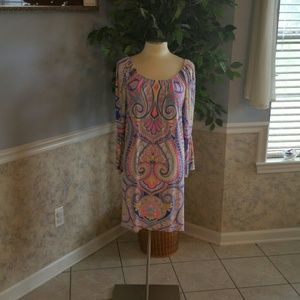Colorful casual dress size large